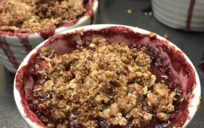 Fruit crumble topping
